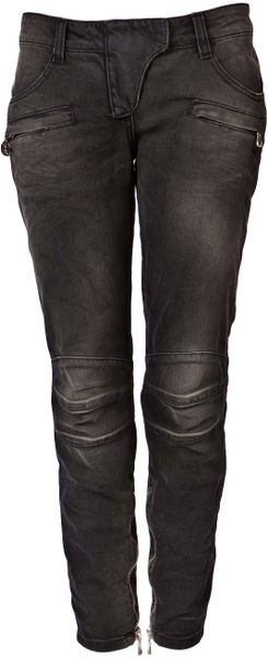Balmain Cropped Jeans in Black - Lyst