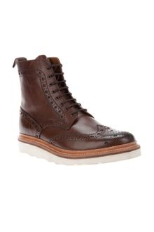 Grenson Brogue Boot - Lyst