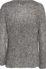 Vince Knit Sweater in Gray - Lyst
