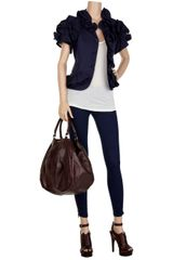 Current/elliott The Cropped Legging Lowrise Jeans in Blue - Lyst