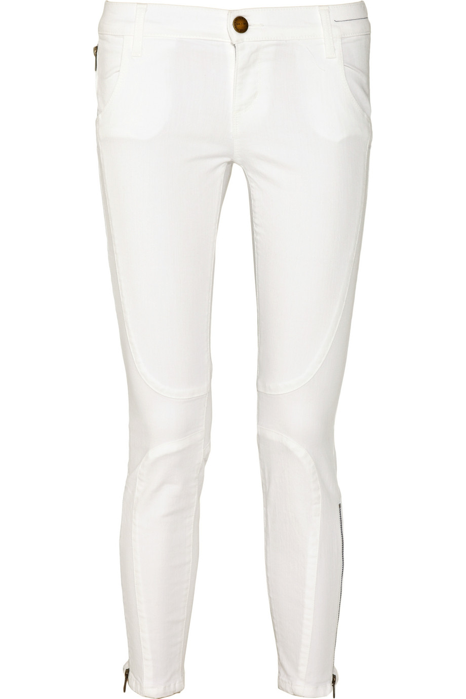 white ankle jeans - Jean Yu Beauty