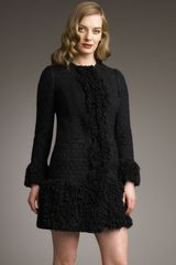 Dolce & Gabbana Long Boucle Jacket - Lyst
