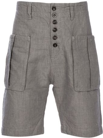 Nonyme Button Fly Short - Lyst