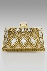 Judith Leiber New Mini Trapezoid Clutch - Lyst