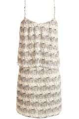 Parker Pleated Dress in Beige (cream) - Lyst