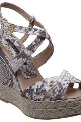 Pied A Terre Lupine Rope Edge Wedge Sandals Natural - Lyst