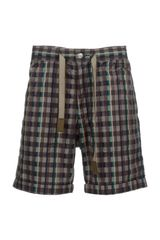 White Mountaineering Check Short - Lyst
