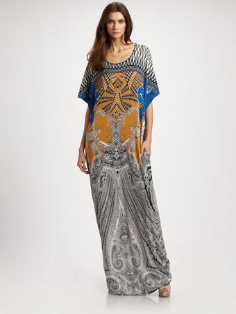 Etro Tribal Paisley Jersey T-shirt Dress - Lyst