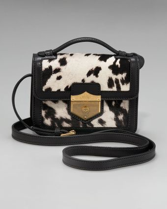 Alexander McQueen Printed Calf Hair Crossbody Bag, Medium - Lyst