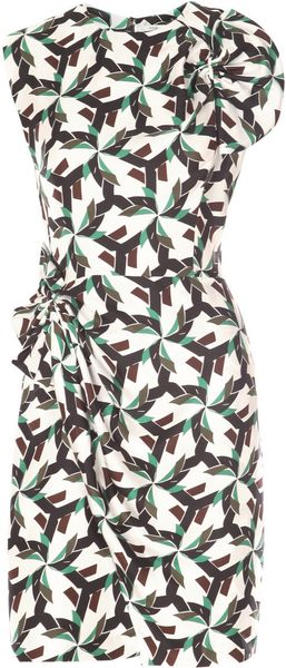 Diane Von Furstenberg Agata Dress in Green - Lyst