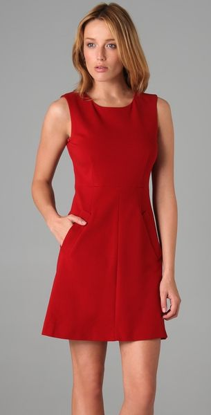 Dvf Red Dress Capreena Mini Dress in Red
