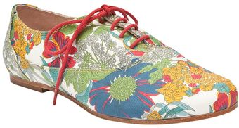 H By Hudson Flower Printed Oxfords - Lyst