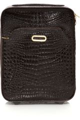 Jimmy Choo Terence Crocodile-effect Leather Suitcase - Lyst