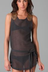 Nightcap Mesh Lace Lilikai Beach Cover in Gray (ash) - Lyst