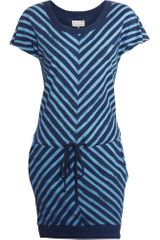 Rag & Bone Striped Slash Dress - Blue - Lyst