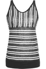 T By Alexander Wang Multi-stripe Tank - Lyst