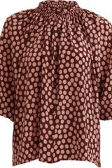 Tucker Long Sleeve Blouse - Lyst