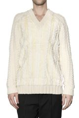 Burberry Prorsum Fine Cashmere Cable Knit Sweater - Lyst