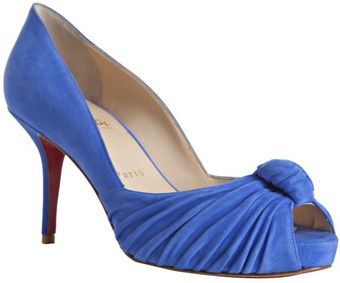 Christian Louboutin Royal Blue Suede Greissimo 85 Pumps - Lyst