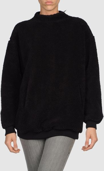 Mm6 By Maison Martin Margiela Zip Sweatshirt in Black - Lyst