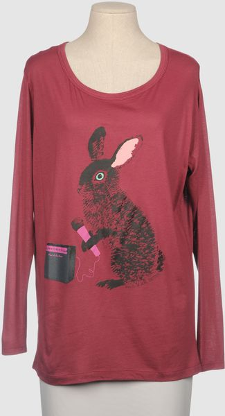 Paul & Joe Sister Long Sleeve Tshirt in Red (blue) - Lyst