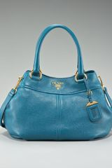 Prada Vitello Daino Pebbled Calfskin Tote - Lyst