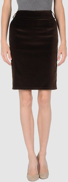 Roberta Scarpa Knee Length Skirt in Brown (blue) - Lyst