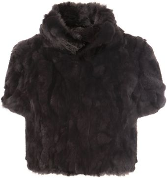 Weekend By Maxmara Cropped Rabbit Fur Jacket - Lyst