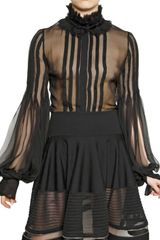 Alexander McQueen Pleated Chiffon Shirt