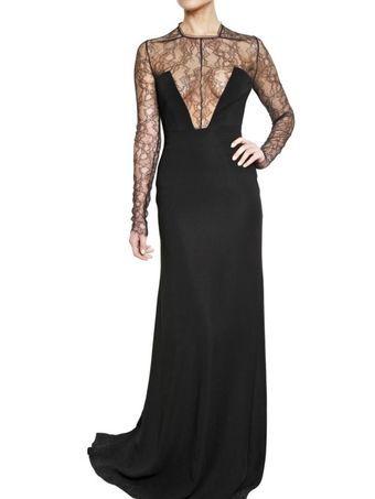 Antonio Berardi Lace On Cady Dress - Lyst