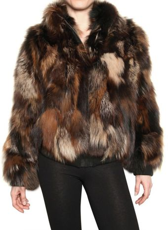 Beayukmui Long Haired Fox Fur Coat - Lyst