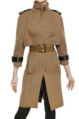 Burberry Prorsum Double Wool Twill Coat - Lyst