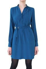 Diane Von Furstenberg Silk Crepe Chemisier Dress - Lyst