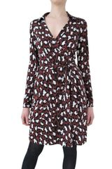 Diane Von Furstenberg Printed Silk Jersey Wrap Dress - Lyst