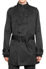 Dior Homme Lightweight Cotton Canvas Trench Coat - Lyst