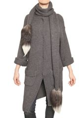 Dolce & Gabbana Fox Fur Alpaca Wool Knitted Sweater - Lyst