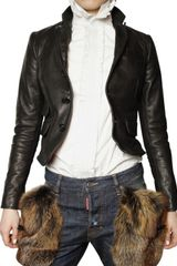 DSquared2 Stone Washed Calfskin Leather Jacket - Lyst