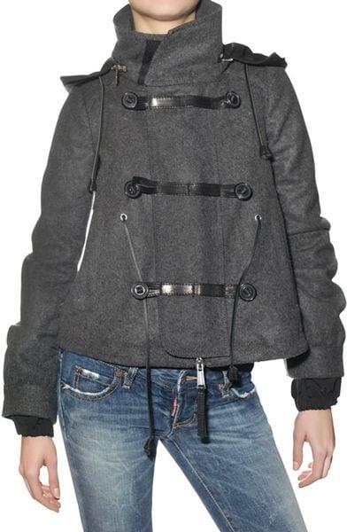 Dsquared² Wool Felt Coat in Gray (charcoal)