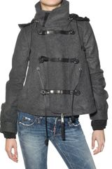 Dsquared2 Wool Felt Coat in Gray (charcoal) - Lyst