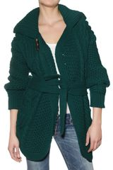 DSquared2 Wool Cable Knit Cardigan Sweater - Lyst