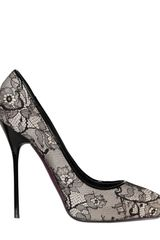 DSquared2 130mm Lace and Silk Stiletto Pumps - Lyst