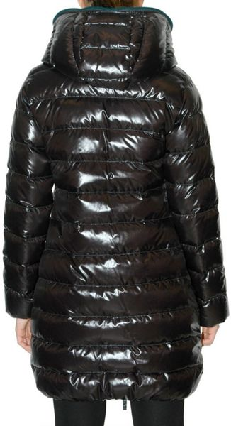 Duvetica Ace Hooded Shiny Quilted Down Jacket In Black Lyst