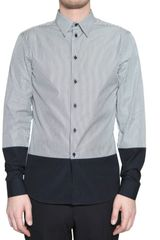 Givenchy Bicolor Poplin Slim Fit Shirt - Lyst