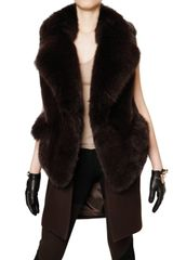 Givenchy Mink and Heavy Stretch Wool Sleeveless F