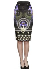 Givenchy Scarf Print Duchesse Pencil Skirt - Lyst