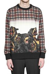 Givenchy Wool Flannel Rottweiler Sweater - Lyst
