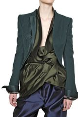 Haider Ackermann Reverse in Silk Satin Wool Cloth Jacket - Lyst