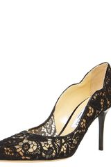 Jimmy Choo Scalloped Lace Pump - Lyst