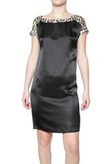 Just Cavalli Satin Dress - Lyst