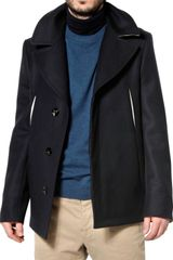 Maison Martin Margiela Diagonal Light Felt Wool Sport Jacket - Lyst